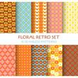 10 Seamless Patterns - Floral Retro Set