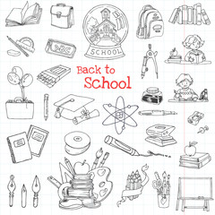Back to School Doodles - Hand-Drawn Vector Illustration