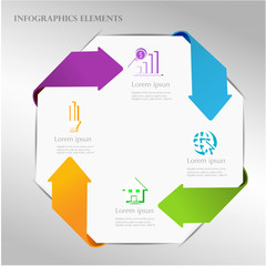 Abstract arrow infographics template. Vector illustration.