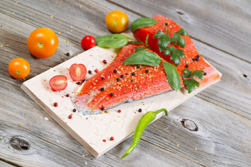 Healthy Salmon ready for cooking