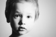 monochrome art portrait of Child. Little Boy. Handsome Kid