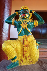 Yaksha at Sao Roi Ton Temple of Payathonsu