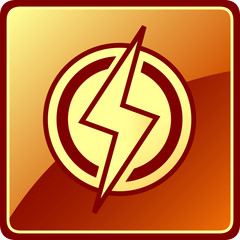 isolated power icon
