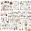 Leinwanddruck Bild - Different music instruments