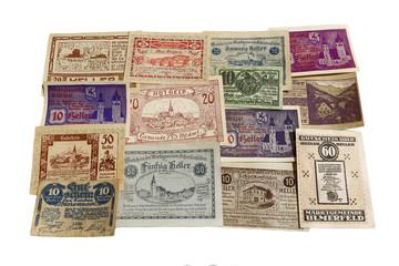Notgeld aus österreich 1919 bis 1920; Heller; freigestellt