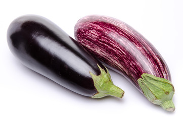 Purple and black eggplant