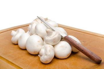 White parisian mushrooms