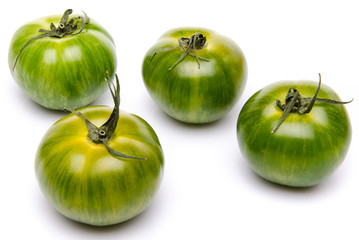 Green fresh tomatoes