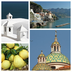 Amalfi coast collage