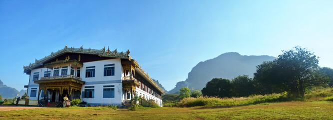 Panorama of Tai Ta Ya Monastery or Sao Roi Ton Temple