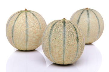 Three fresh melons