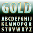 green gold letters