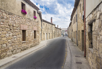 a street of an ancient Spanish town