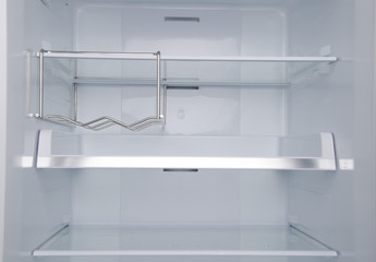Part of an empty refrigerator