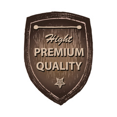 High premium quality wood label hand draw