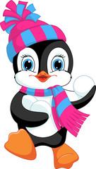 penguin playing snowballs