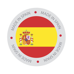 Made in Spain Seal, Spanish Flag (vector Art)