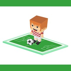 soccer cartoon boy