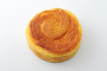 丸いパン 渦巻きパン 白背景