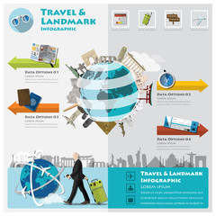 Travel And Journey Landmark Infographic