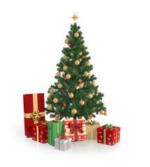 Tannenbaum Mit Geschenken - Freisteller