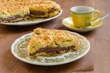 Torta sbriciolata con crema al cacao