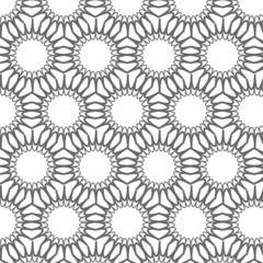 Vector seamless pattern, geometric tiles monochrome background