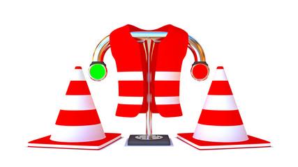 Straßenbauarbeiten / Warnweste