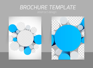 brochure with 3d circles