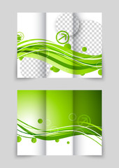 Green wave tri-fold brochure