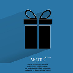 gift web icon, flat design