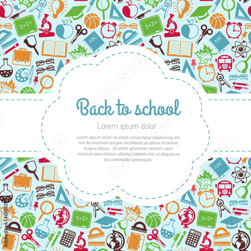 Back to school colorful background with space for text - 68033148