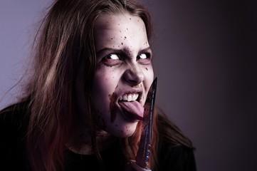 Girl cuts tongue