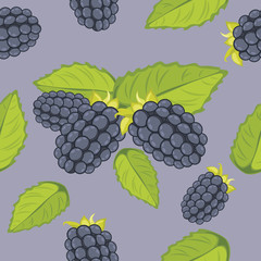 Seamless background with blackberry
