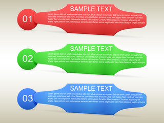 Infographic template 3 options