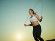 Woman and skipping rope