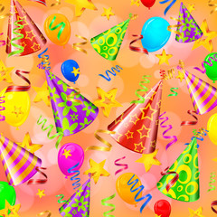 Party decorations on color background, vector illustration
