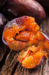 fresh sweet plums