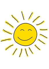 Gezeichneter Sonnenschein