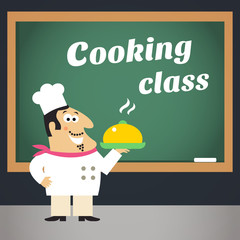 Cooking class advertising poster