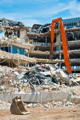 demolished buildings
