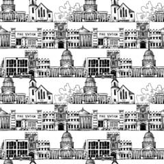 Seamless background with government buildings