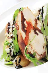 chicken roulade salad