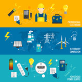 Set of line banner energy generation