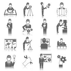 Set of engineer icons