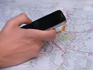 Reisen von a nach b mit dem Smartphone
