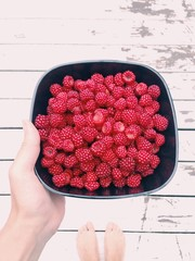 Bowl of Wineberries
