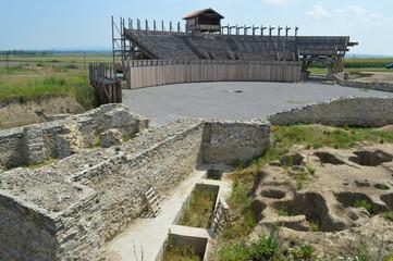 The Roman amphitheater, Viminacium, Serbia