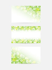 Green leaves greeting cards