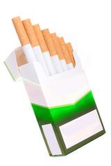 Zigarettenschachtel mit Zigaretten wie eine Treppe